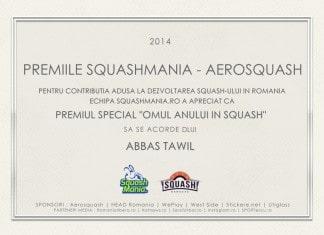 premiile squashmania aerosquash 2014 - omul anului in squash