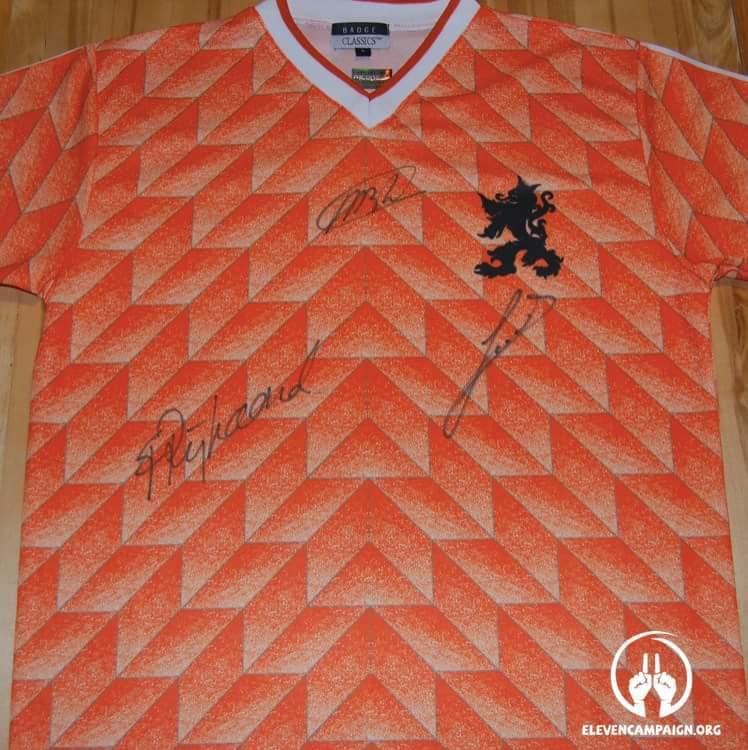 Marco van Basten,Ruud Gullit & Frank Rijkard Euro 1988 olanda home shirt-sportescu
