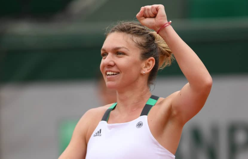 3120529 06/03/2017 Simona Halep (Romania) in the 2017 French Open women's singles match against Darya Kasatkina (Russia). Alexey Filippov/Sputnik